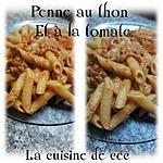 recette Penne au thon et à la tomate