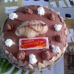 Gateau poires-chocolat pour l'anniversaire de ma fille Athéna