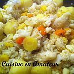 recette Chou fleur et méli mélo de carottes