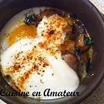 recette Oeufs cocotte aux pleurottes et poireaux