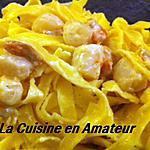 recette Tagliatelles aux noix de St Jacques