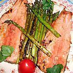 recette Filets de truite aux asperges vertes