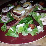 recette Salade magret de canard et chévre chaud