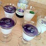 recette Verrine de mousse au fromage blanc violette