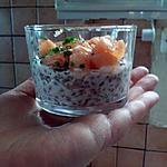 recette Verrines saumon / lentilles de ma soeur sylvie