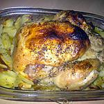 recette Poulet rôti et ses pommes de terre