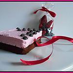 recette chantilly à la fraise sur fondant choco noir