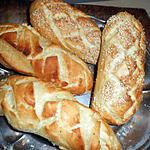 recette Petits pains aux sésames et nature
