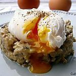 recette Oeuf poché sur duxelle de champignons de Paris