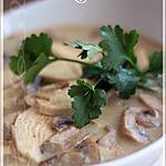 recette ~Crème de poulet aux champignons~