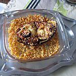 recette aubergine    farcie  ratatouille chorizo