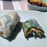 recette Rouleaux de printemps aux crevettes et crudités