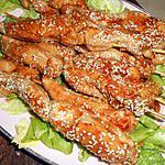 recette Brochette de yakitori au poulet