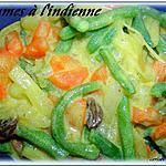 recette légumes à l'indienne sauce au yaourt
