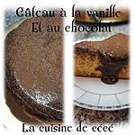 Gâteau à la vanille et au chocolat