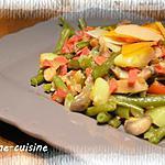 recette Poélée de haricots verts au chorizo