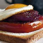 recette Steak de tomate sur toast