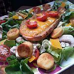 recette Salade de quenelles poèlée au tomates cerise et cheddar