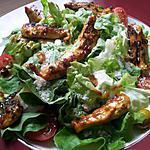 recette Salade de poulet et olives au miel
