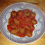recette boulettes a la tomate et poivron