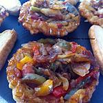 recette Tatin aux oignons confits, poivrons et lardons