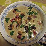 recette velouté de champignons au micro onde   sur une idée de mamyloula