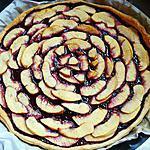 recette Tarte aux pommes à la confiture de myrtilles