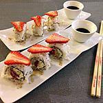 recette Sushi Maguro Ichigo Roll - Sushi Rouleau Thon Fraise