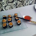 recette Makis comcombre saumon mozzarella ails frits