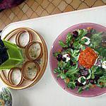 recette assiette avec mousse de fromage de chévre a la purée de tomates sur pain d épices  de juarez baysse josette