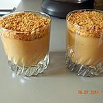 recette Verrines de crème aux spéculoos