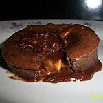 recette fondant au chocolat, coeur coulant aux galette bretonne