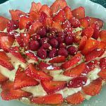 recette Tarte aux fraises et chocolat blanc