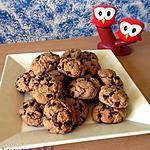recette Cookies au Nutella et pépites de chocolat