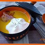 recette Capuccino de carottes au lard