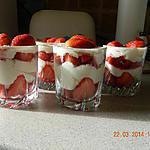 recette Verrine de fraises