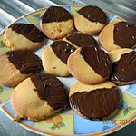 recette Sablé orange chocolat ( sans oeuf )