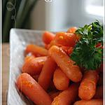 recette ~Carottes glacées à l'orange~