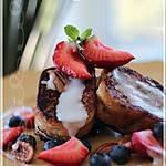 recette ~Pain doré érable, pacanes et fruits, sauce au lait de coco~
