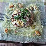 recette assiette  raie et vermicelles chinois  et  un mercredi