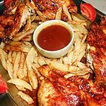 Coquelet grillé sauce barbecue