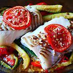 recette dos de cabillaud au four sur son lit de légumes
