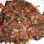Steak de hampe aux échalotes