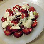 recette assiette fraises fromage blanc et meringue de mamyloula