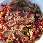 recette Magret de canard aux noix et  aux grenades