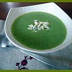 recette Soupe de courgettes au bleu d'Auvergne