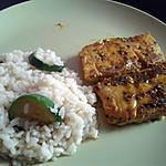 recette riz au gourgette avec poisson mariné