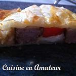 recette Friand au poivron et saucisse de Toulouse