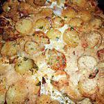 recette Gratin de pommes de terre nouvelles au lard et émmental