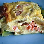 clafoutis saumon fumé-courgette
